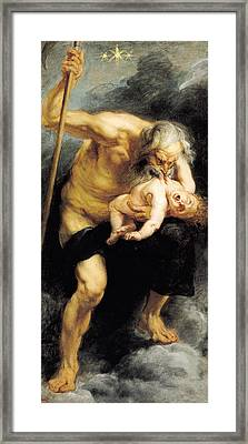 Saturn Devouring His Son Framed Print by Peter Paul Rubens