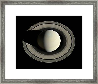 Saturn From Space Framed Print by Nasa