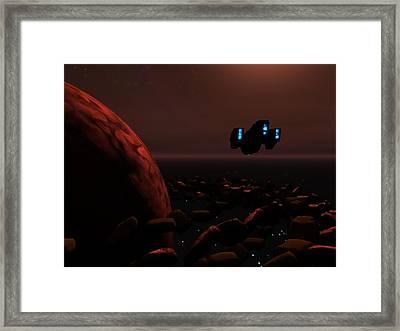 Saturn Scoutship Flight Framed Print
