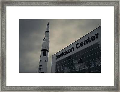 Saturn V Rocket Engine Detail, Used Framed Print