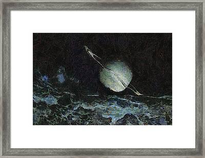 Saturn-y Framed Print by Ayse Deniz