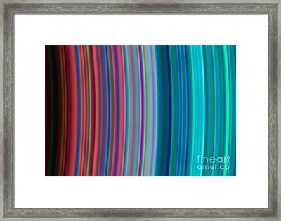 Saturns B And C Rings Framed Print by Science Source