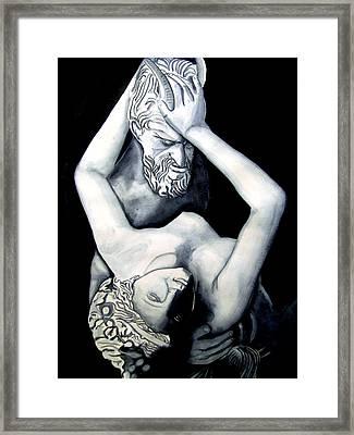 Satyre Et Bacchante Framed Print by Emmanuel Turner