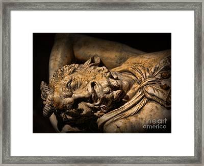 Satyr's Agony    -    Faun Framed Print by Lee Dos Santos