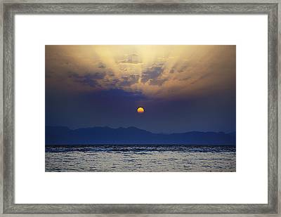 Saudi Sunrise Framed Print