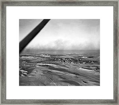 Saudi Town For Americans Framed Print by Underwood Archives