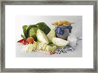 Sauerkraut Ingredients Framed Print by Science Photo Library