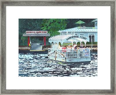 Saugatuck Chain Ferry Framed Print by LeAnne Sowa