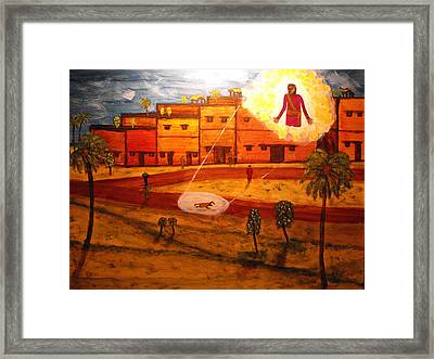 Saul On The Damascus Road Framed Print