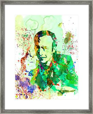 Saul Watercolor Framed Print by Naxart Studio