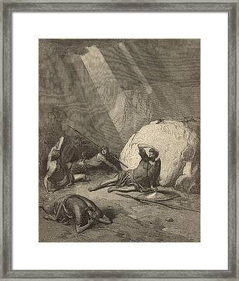 Saul's Conversion Framed Print by Antique Engravings