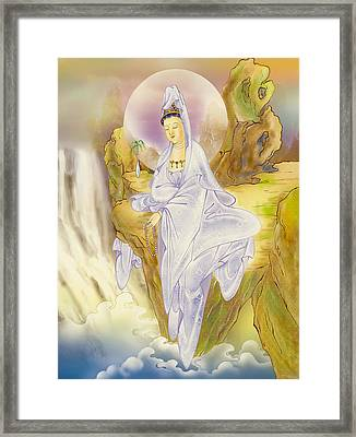 Sault-witnessing Kuan Yin Framed Print by Lanjee Chee