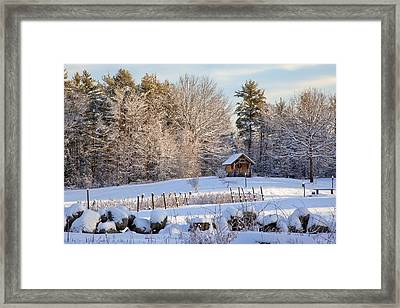 Framed Print featuring the photograph Sauna Shed by Larry Landolfi