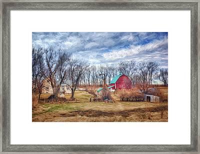 Saunders County Farm 1 Framed Print