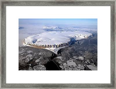 Saunders Island Framed Print by Nasa/michael Studinger