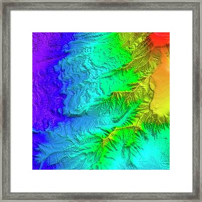 Saunders Island Volcano Framed Print by Philip Leat/pete Bucktrout, British Antarctic Survey