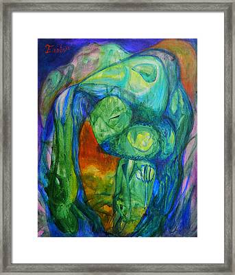 Saurian Foyer Framed Print