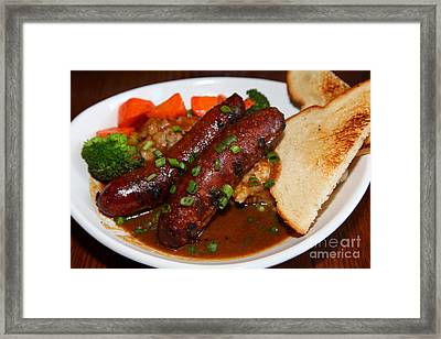 Sausage Dinner Plate 5d27679 Framed Print by Wingsdomain Art and Photography