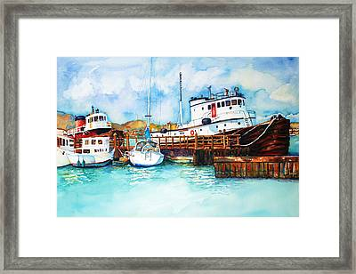 Sausalito Bay Framed Print by Richelle Siska