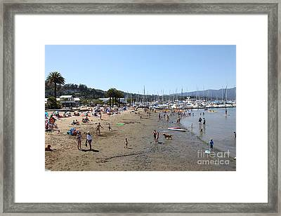 Sausalito Beach Sausalito California 5d22696 Framed Print by Wingsdomain Art and Photography