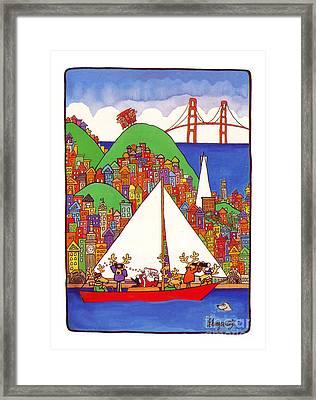 Sausalito Christmas Framed Print by Robert Gumpertz