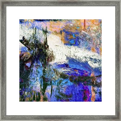Framed Print featuring the painting Sausalito by Dominic Piperata