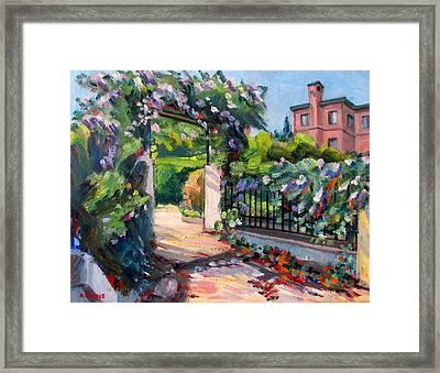 Sausalito Garden Framed Print by Robert Gerdes