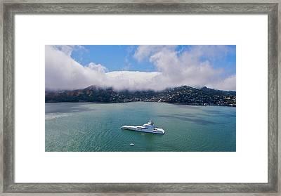 Sausalito Skyline Framed Print by Steven Lapkin