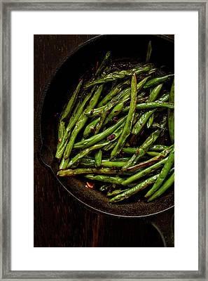 Sauteed String Beans Framed Print by Joseph Clark