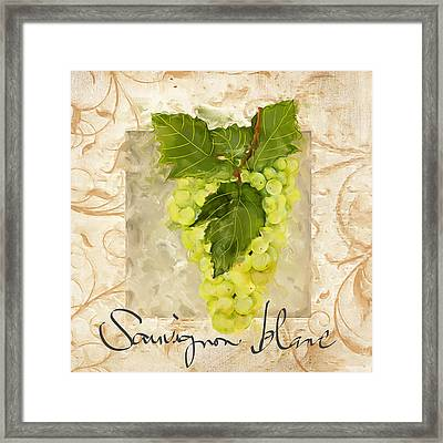 Sauvignon Blanc II Framed Print by Lourry Legarde