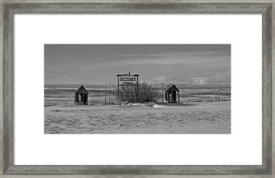 Framed Print featuring the photograph Savageton Cemetery  Wyoming by Cathy Anderson