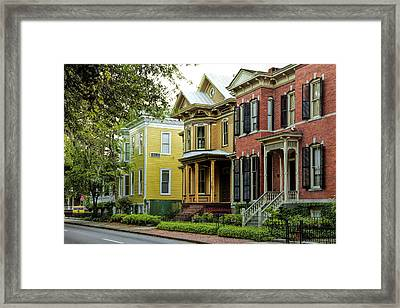 Savannah Architecture Framed Print by Diana Powell
