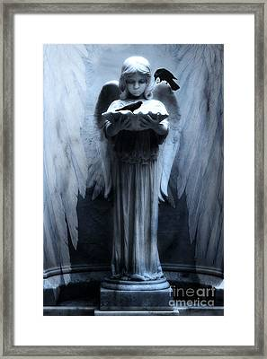 Savannah Bonaventure Spooky Angel With Ravens Framed Print