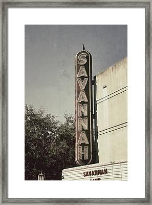 Savannah Framed Print by Brandon Addis