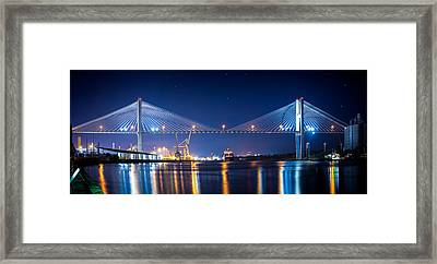 Savannah Bridge Framed Print by Mark Andrew Thomas