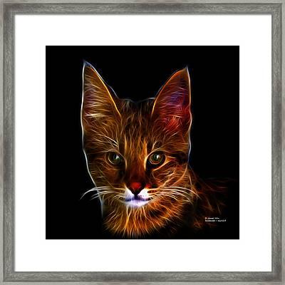 Savannah Cat - 5462 F Framed Print by James Ahn