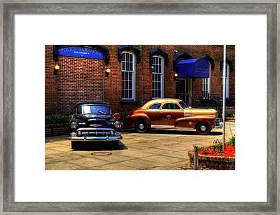 Savannah Chatham Metropolitan Police Framed Print by Greg and Chrystal Mimbs