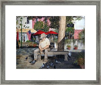 Framed Print featuring the painting Savannah City Market by Alan Lakin