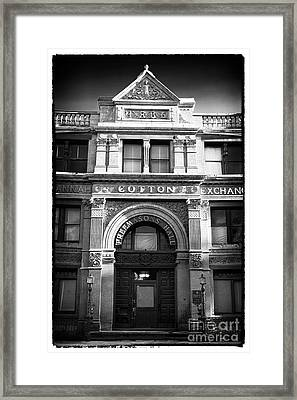 Savannah Cotton Exchange Framed Print