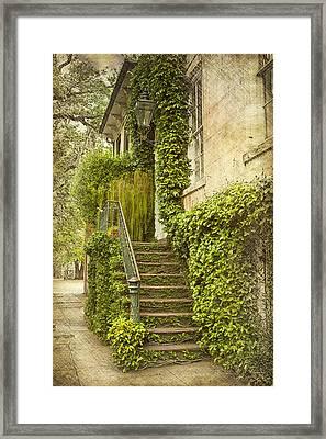 Savannah Doorway 1 Framed Print by Carrie Cranwill
