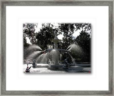 Savannah Forsythe Fountain Show Framed Print by Jacqueline M Lewis