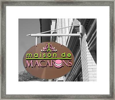 Savannah French Macarons Shop - Parisian Bakery Macaron Shop Savannah Georgia Framed Print