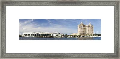 Savannah Ga Convention Center Pano Framed Print