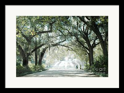 Old Savannah With Moss Framed Prints