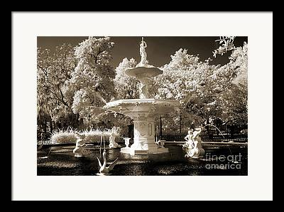 Savannah Fountains Framed Prints