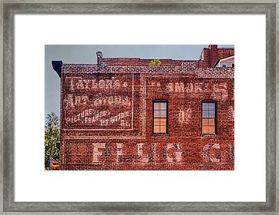 Savannah Ghost Writing Framed Print by Priscilla Burgers