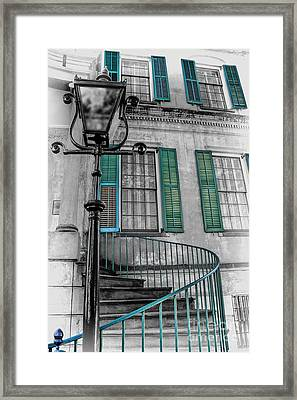 Savannah Green House Framed Print