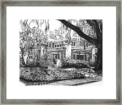 Framed Print featuring the drawing Savannah Living by Rachel Hames