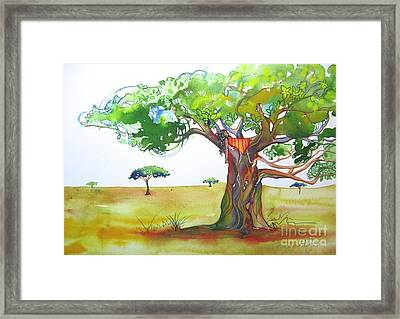Savannah Framed Print by Maya Simonson
