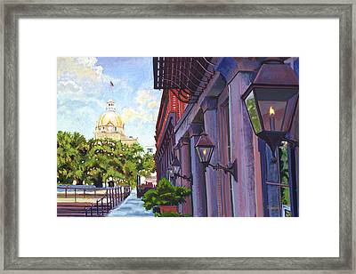 Savannah Morning Framed Print